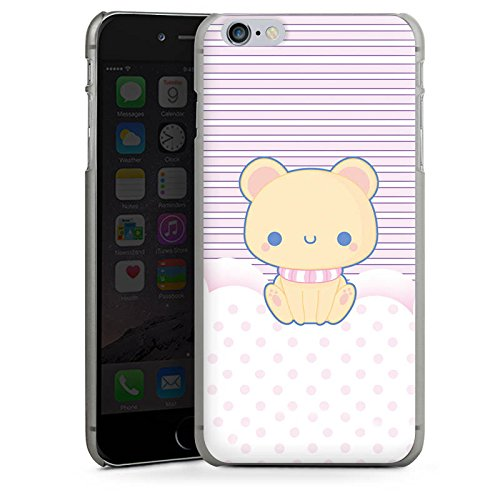 Apple iPhone X Silikon Hülle Case Schutzhülle Kitty Katze Kawaii Hard Case anthrazit-klar
