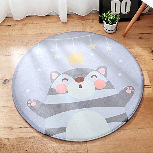 Hmy LRW Teppich Cartoon Kinderzimmer Schlafzimmer Bettdecke Zimmer Zimmer Tee Tischset Vordersitz Computer Stuhl Mat (Color : C, Size : Diameter120cm)