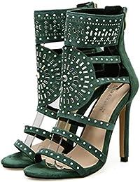 Sandalias de tacón alto para mujer Covermason Romano exótico Tacones altos Verano Club de