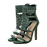 Liquidación! Sandalias de tacón alto para mujer Covermason Romano exótico Tacones altos Verano Club de lujo Zapatos(36 EU, Verde)