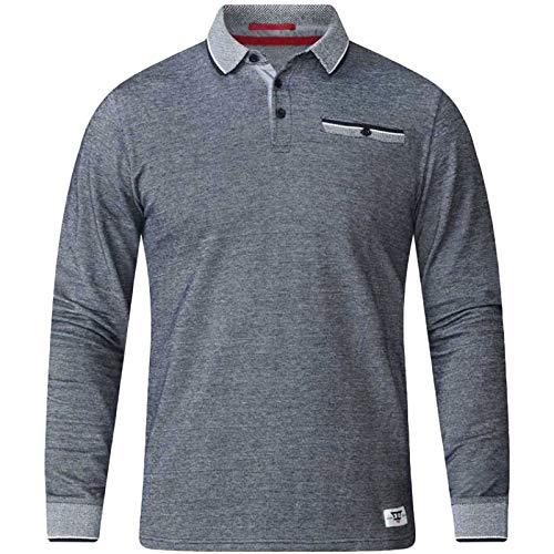 c6f162d18 D555 Duke Mens Chigbo Big Tall Long Sleeve Polo Shirt - Char - 4XL