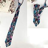 Lazy zipper stripes travail cravate cravate hommes 18 cm 18 48 * 8 cm