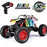 VATOS RC Cars,1:18 Off Road Remote Control Trucks Rechargable 2.4GHz Remote Control Crawlers 4WD High Speed All Terrain Monster Truck for Adults and Kids