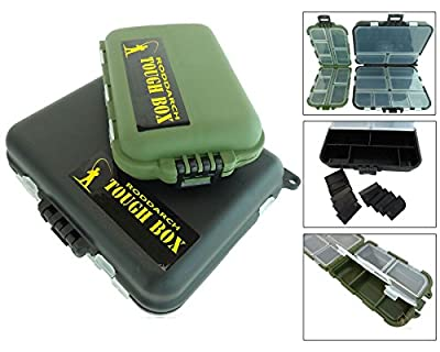 2 x Roddarch© Small Clamshell Fishing Tackle Boxes for Lures Spinners Hooks Flies from Roddarch