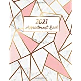 2021 Appointment Book: Marble Line Gold | 365 Days with Times Daily and Hourly W/ To Do List Schedule Agenda Logbook | 2021 D