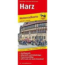 Motorradkarte Harz: Mit Ausflugszielen, Einkehr- & Freizeittipps und Tourenvorschlägen, wetterfest, reissfest, abwischbar, GPS-genau. 1:150000