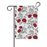 Dozili Flagge mit Rosen Bedruckt, Dekoration für den Garten, wetterfest und doppelseitig, Polyester, bunt, 28
