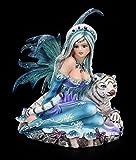 Kleine Elfen Figur - Sitzend mit Tiger