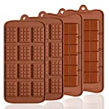 Lot de 4 moules en Silicone pour Chocolat, Senhai 2 Types d'Break Apart antiadhésif Candy Protéines et Energy Bar Moule à Plaque de Cuisson ...