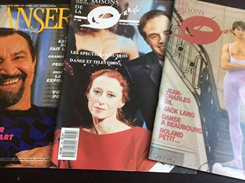 2 N° de Les Saisons de la Danse (165 & 208, 1984/89) & Danser N° 123 par Bejart