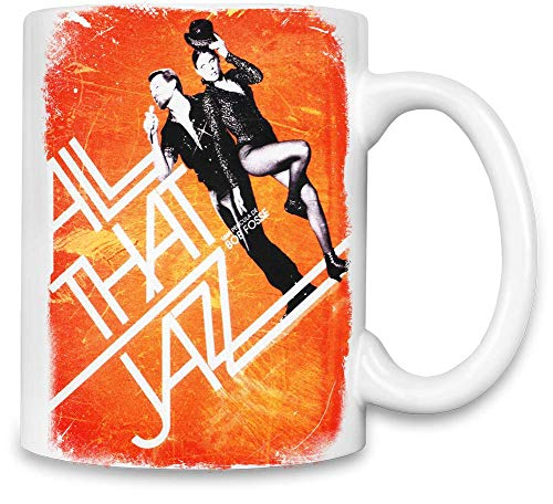 Design Things All Dieses Jazz Poster - All That Jazz Poster Unique Coffee Mug | 11Oz Ceramic Cup| The Best Way to Surprise Everyone On Your Special Day| Custom Mugs by (That Poster All Jazz)