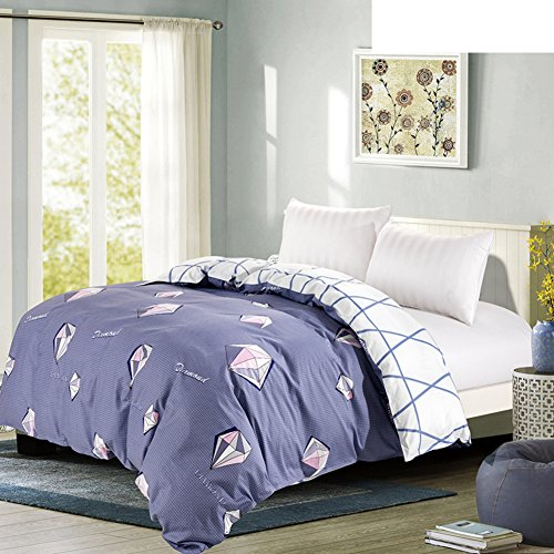 Bettbezug,Student Schlafsaal Baumwolle Twill Tröster abdeckung herbst und winter Tröster abdeckung Bettwäsche (Include:Bettbezug X 1)-X 53x79inch(135x200cm) - Baumwoll-twill Tröster