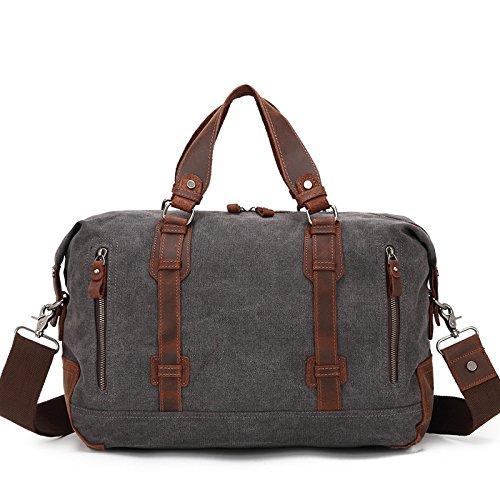 Mefly Nuovo Stile Di Grande Capacità Borsa Da Viaggio Casual Borsa A Tracolla In Tela Sacchetto Blu Royal Black grey
