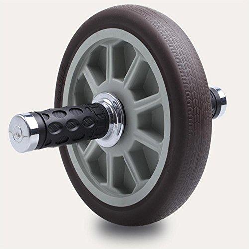 PENG abs rueda cojinete de silencio con el patinaje de la rueda abdominal rueda abdominal gimnasio dedicado y hogar aparatos de gimnasia gris Ferry