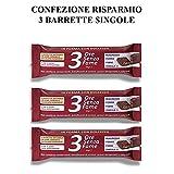 Rilevo- 3 Confezioni Singole di Barrette Spezzafame- 3 ore Senza Fame Barretta Naturale con Semi,Cereali ricoperte cioccolato fondente (3x30 gr)