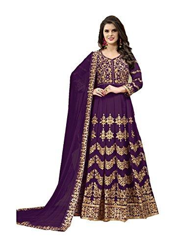 Indian Women Designer Pakistani Ethnic Traditonal Purple Salwar Kameez.