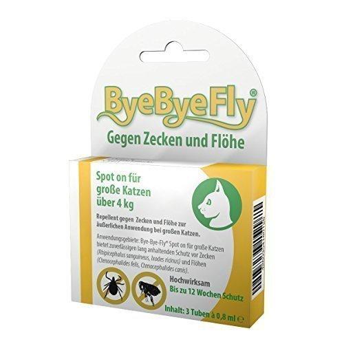 ByeByeFly - Spot on für große Katzen - 3er Packung