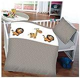 7dreams® Kinder Baby Bettwäsche Baumwolle 100x135cm Kissenbezug 40x60cm