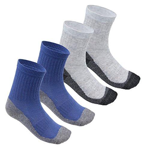 TupTam Jungen Sportsocken mit Frottee-Sohle 4er Set, Farbe: Farbenmix 1, Größe: 31-34 (Kind Socken Warm)