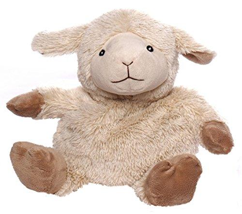 Inware 8752 - Mouton, crème. Peluches bouillottes à réchauffer au micro-ondes, remplissage amovible