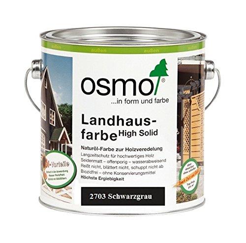 OSMO Landhausfarbe High Solid 750ml Schwarzgrau 2703