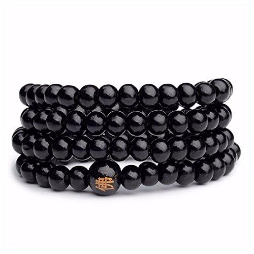 Beads Bracelet CHARMINER 5 Collana Preghiera Colori Buddha Buddista Con Braccialetto 108 Tallone Perline Di Legno Di Sandalo - Buddha Bead