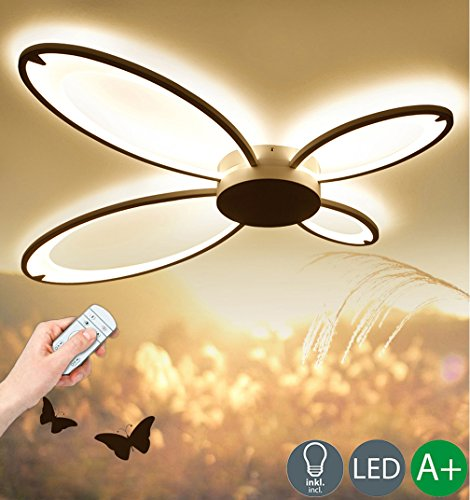 Modern LED Decken Beleuchtung Kreative Design Deckenleuchte Dimmbar Deckenlampe Sconce Dekoration Innenbeleuchtung Hochwertigem Wohnzimmer Leuchte Schlafzimmer Lampe Weiß Acryl Lampenschirm 36W