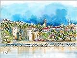 Poster 130 x 100 cm: Antalya, Blick zur Altstadt von