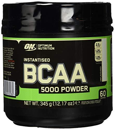 Optimum Nutrition BCAA- Verzweigtkettige Aminosäuren (mit L-Leucin, L-Isoleucin und L-Valin, BCAA Pulver von ON), 60 Portionen, 345g -