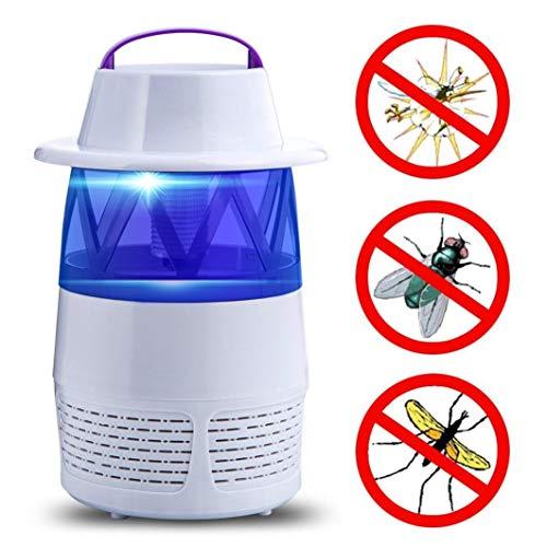 Transwen Insektenvernichter, Elektrische Bug Zapper LED Bug USB Fliegenfalle Fliegen Insekt Killer Moskito Mückenbekämpfung Lampe Mückenfalle (Weiß)
