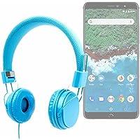 DURAGADGET Auriculares De Diadema Color Azul Para Smartphone BQ Aquaris X2, BQ Aquaris X2 Pro