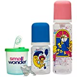 Small Wonder Pure Set Of 4 Combo (Pure Blue 250 Ml, Pure Red 125 Ml, Dispenser Green, LSR)