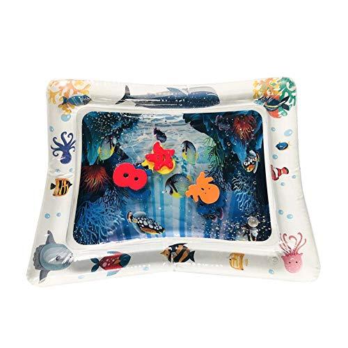 te, Aufblasbare Spielmatten Auslaufsicher BPA-frei Unterwasserwelt Wasser-Matte Spielzeug Spieldecke ()