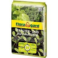 Floragard Kräuter- und Aussaaterde 10 L • Spezial-Erde • zum Aussäen, Stecken und Pikieren • für alle Kräuterarten • mit Perlite und dem Naturdünger Guano