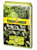 Floragard Bio Kräuter- und Aussaaterde 10 L • torfreduzierte Bio-Spezialerde • zum Aussäen, Stecken und Pikieren • für alle Kräuterarten • mit Perlite und Kompost