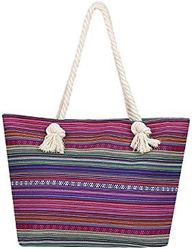 DonDon Damen Tasche für Festival oder Strand im Hippie Look