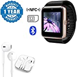 Captcha GT08 Smart Watch With Camera Sport Pedometer SIM TF Card Support With Earpod With Remote And Mic Wired Headset Compatible With Xiaomi, Lenovo, Apple, Samsung, Sony, Oppo, Gionee, Vivo Smartphones (1 Year Warranty)