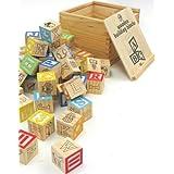 Tradicionales bloques de construcción de madera