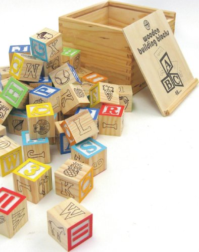 Traditional wooden building blocks