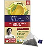 Saffola FITTIFY Gourmet Superfood Moringa Green Tea - 37.5 g (Royal Kahwa, 15 Sachets)