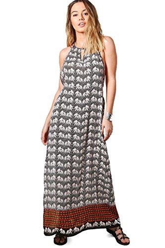 Damen Multi Petite Taylor Rückenfreies Max-kleid Mit Elefanten-print Multi