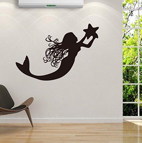Lozse Mermaid Swimming Pool Wohnzimmerdekoration Wandaufkleber Aufkleber