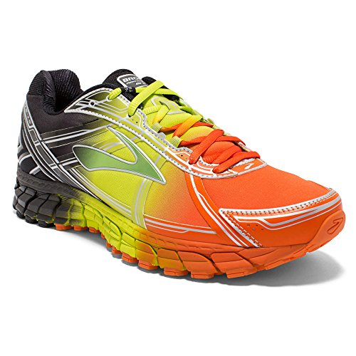 Brooks Adrenaline GTS 15 Men's Road Running Shoes - Orange/Lime/Black, 11 UK