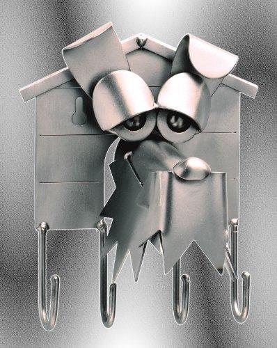Boystoys HK Design - Schlüsselbrett Hund - Metall Art Geschenkideen Schlüsselhalter Deko Skulptur - Original Schraubenmännchen Wohnaccessoire handgefertigt