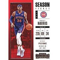 2017–18Dépasse Panini Season Ticket # 56Tobias Harris Detroit pistons Basketball carte