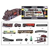 Haunen 1/87 Modelleisenbahn Lokomotive H0, Zug Modell Klein Spielzeug für Modellbahn Elektrische Zug Spielzeug mit Tönen und Lichtern, Spur H0