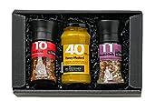 GRILLFREUND BBQ Geschenk für Männer - Geschenkkorb inklusive Handmade Honig Senf Sauce und Grillgewürze - Grill Zubehör – Grill Gewürze Set