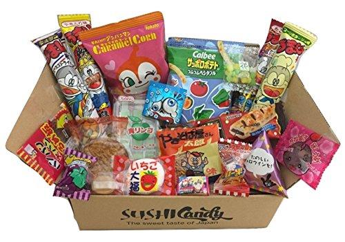 20 Dulces japoneses DAGASHI SEPTIEMBER set regalo con caramelo para los niños width=