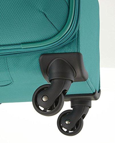 Travelite SOLARIS 4 Rad Trolley S, 88147-01 Koffer, 54 cm, 36 L, Schwarz/Limone - 4