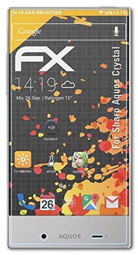 atFolix Schutzfolie für Sharp Aquos Crystal Displayschutzfolie - 3 x FX-Antireflex blendfreie - Crystal Protector Sharp Screen